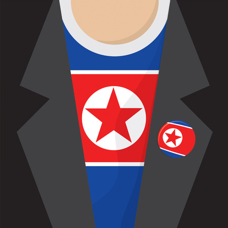 north korea: North Korea T-Shirt Vector Illustration