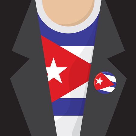 clasp: T-Shirt With Cuba Flag Vector Illustration