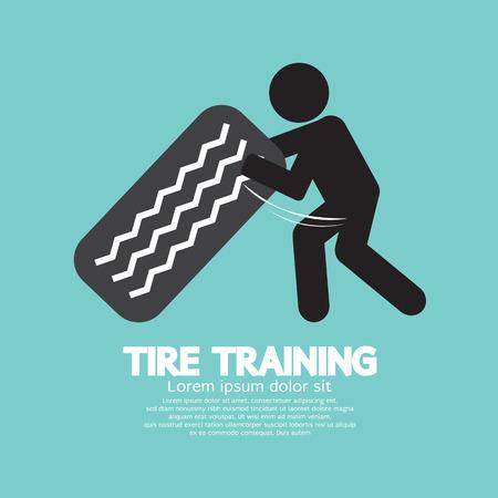 the tire: Tire Training Workout Symbol Vector Illustration Illustration