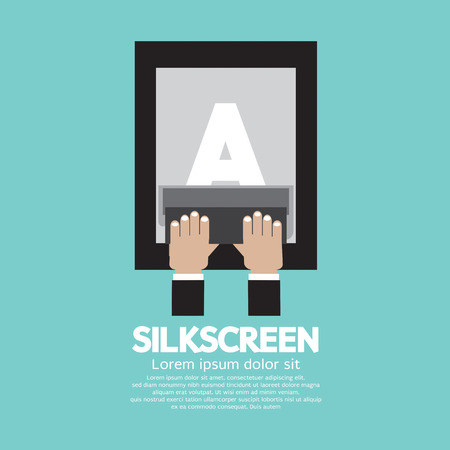 squeegee: Silkscreening With Squeegee Vector Illustration