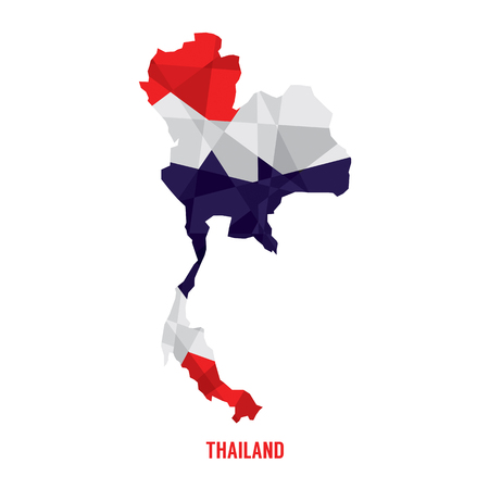 Map of Thailand Vector Illustration Çizim