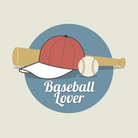 caps: Baseball Lover Vector Illustration Illustration