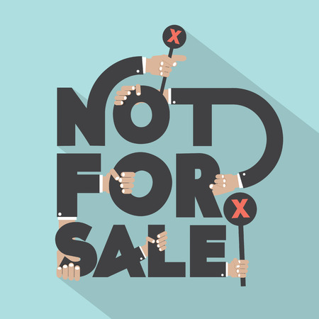 Not For Sal Typography Design Vector Illustration