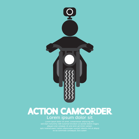 action sports: Action Camcorder Symbol Vector Illustration