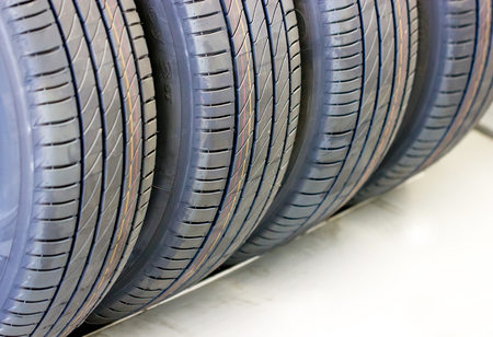 tyre tread: Close Up Cars Tires