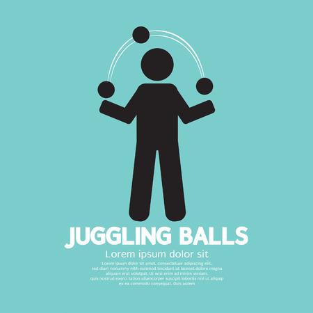 juggling: Juggling Balls Symbol Vector Illustration