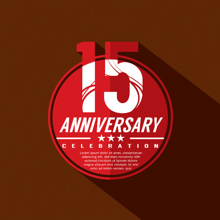 15: 15 Years Anniversary Celebration Design Illustration