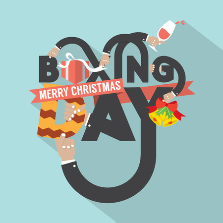 boxing day: Boxing Day Typography Design Vector Illustration