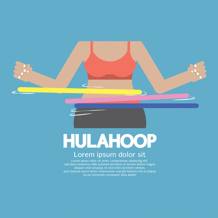 hulahoop: Hulahoop Playing Vector Illustration Illustration