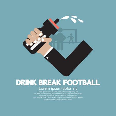 thirst: Drink Break Football Vector Illustration
