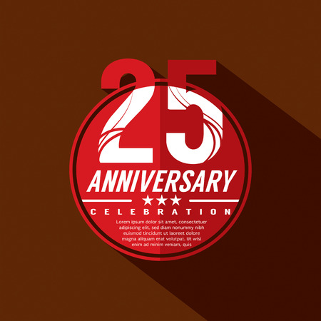 anniversaire: 25 ans de c�l�bration d'anniversaire de conception Illustration