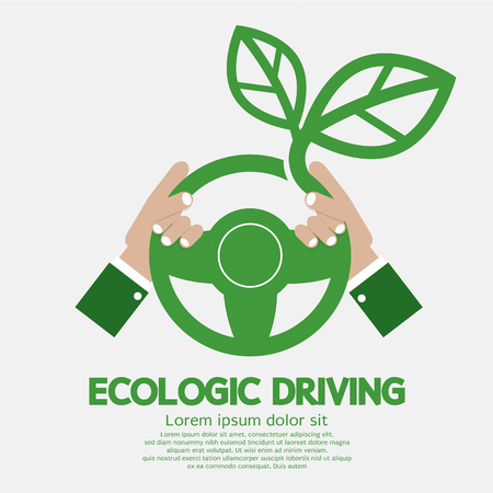 ecologic: Ecologic Driving Concept Vector Illustration Illustration