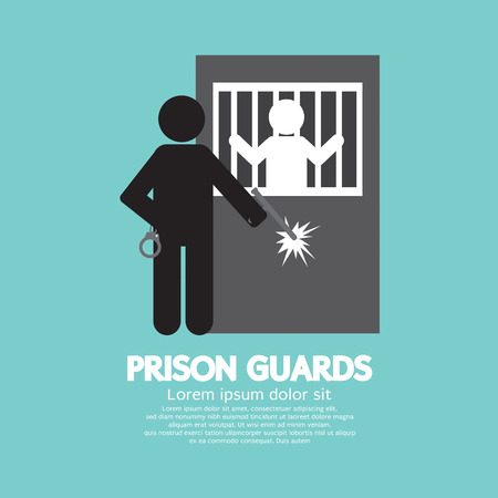correctional facility: Prison Guards Symbol Vector Illustration Illustration