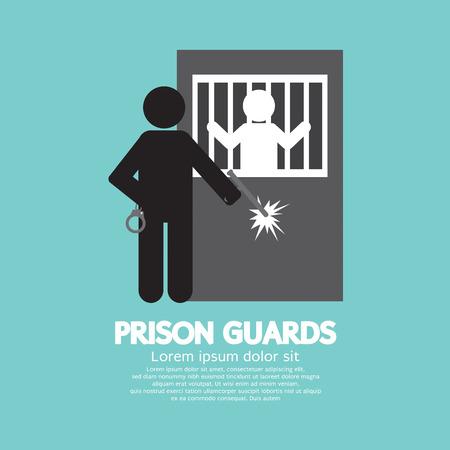 correctional officer: Prison Guards Symbol Vector Illustration Illustration