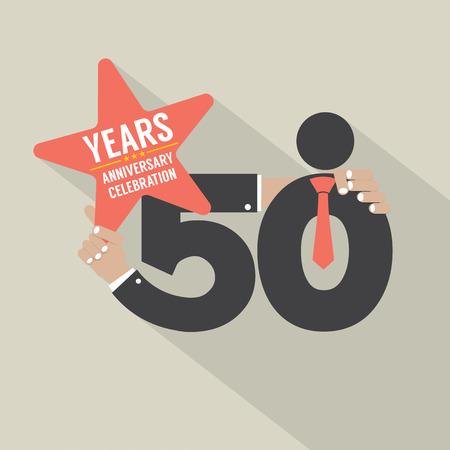 50 years anniversary: 50 Years Anniversary Typography Design Vector Illustration Illustration
