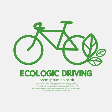 Ecologic Driving Concept Vector Illustration Illustration