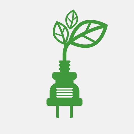 plug: Saving Energy Concept Vector Illustration