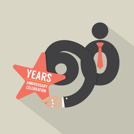 60 years: 60 Years Anniversary Typography Design Vector Illustration Illustration