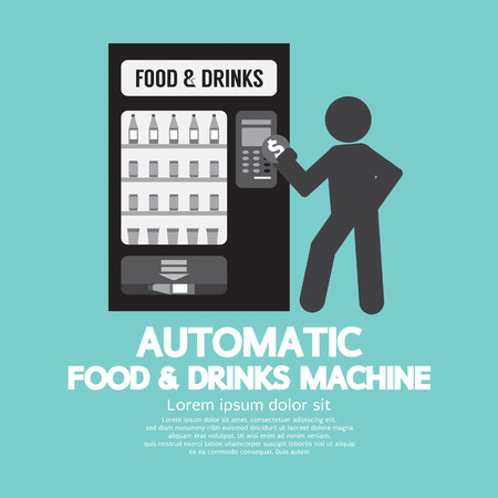 automatic machine: Automatic Food Machine Symbol Vector Illustration Illustration