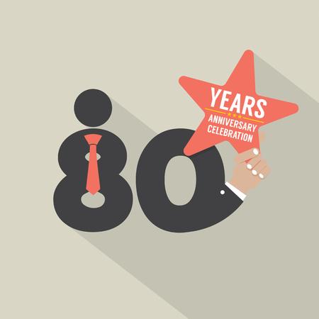 80 years: 80 Years Anniversary Typography Design Vector Illustration