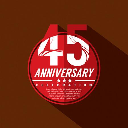 45th: 45 Years Anniversary Celebration Design Illustration