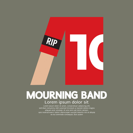 mourning: Mourning Band On Soccers Sleeve Vector Illustration