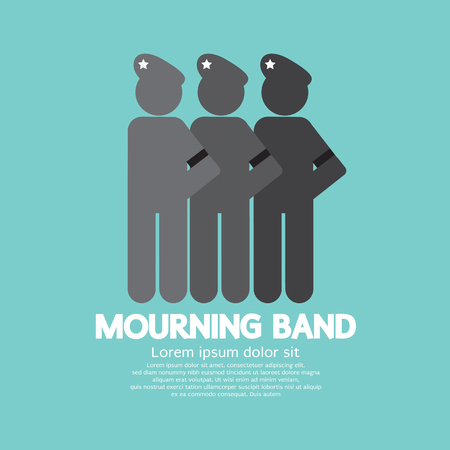 mourn: Mourning Band On Soldiers Sleeve Vector Illustration Illustration
