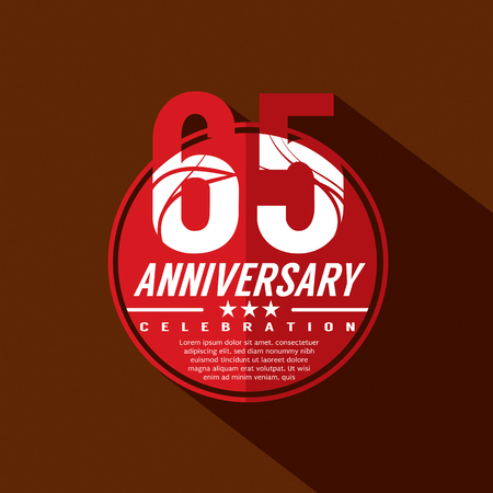 65th: 65 Years Anniversary Celebration Design