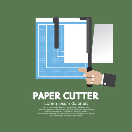 office tool: Working With Paper Cutter Paper Cutter Vector Illustration Illustration