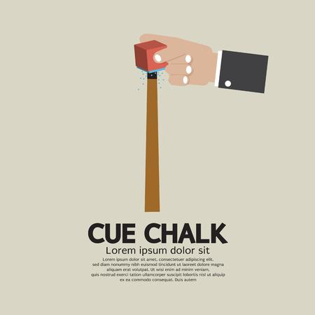 cue sports: Cue Chalk Or Billiard Sports Vector Illustration