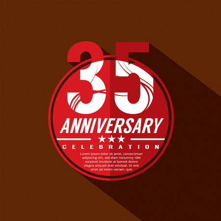 35 years: 35 Years Anniversary Celebration Design Illustration
