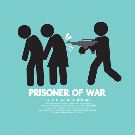 hostage: Prisoner Of War Symbol Vector Illustration Illustration