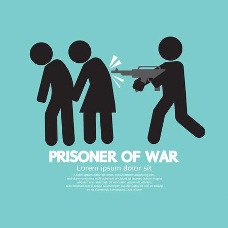 Prisoner Of War Symbol Vector Illustration Ilustração