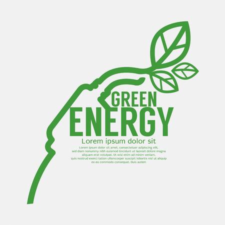 electric green: Ecologic Driving Green Concept Vector Illustration Illustration