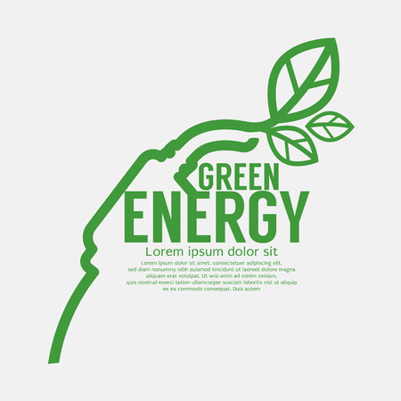 Ecologic Driving Green Concept Vector Illustration Illustration