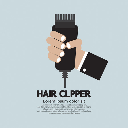 clipper: Hair Clipper, Tool Of Hairdresser Vector Illustration