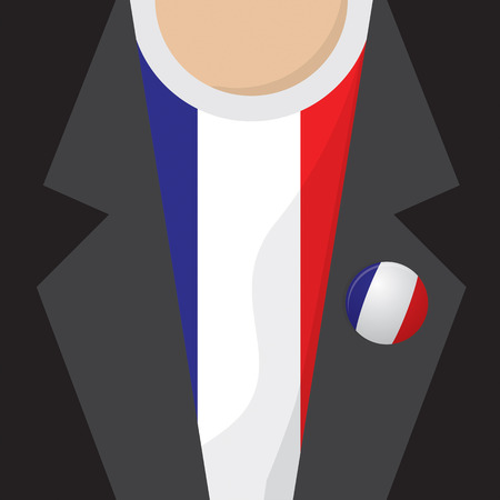 clasp: T-Shirt With France Flag Vector Illustration
