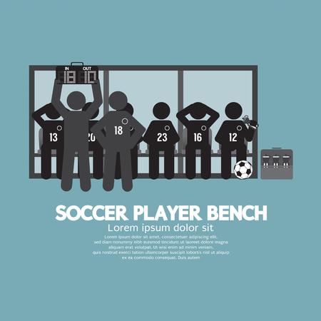 substitute: Football Or Soccer Player Bench Black Symbol Vector Illustration Illustration
