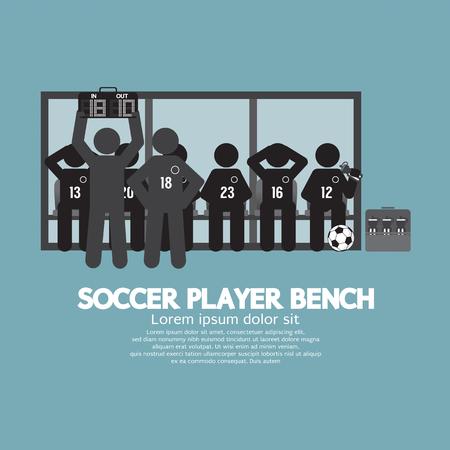 player bench: Football Or Soccer Player Bench Black Symbol Vector Illustration Illustration