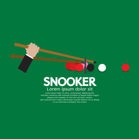 snooker: Snooker Competition Vector Illustration
