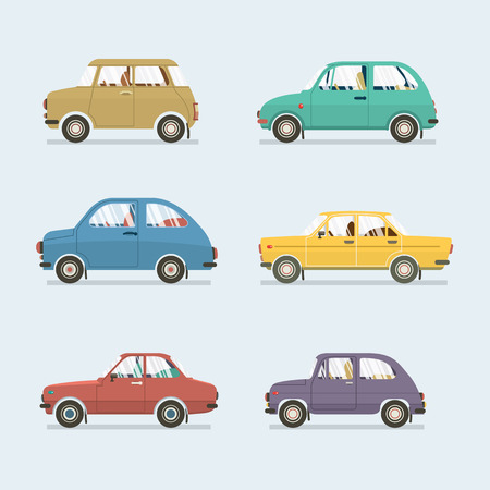 view icon: Many Styles Of Cars Side View Vector Illustration Illustration
