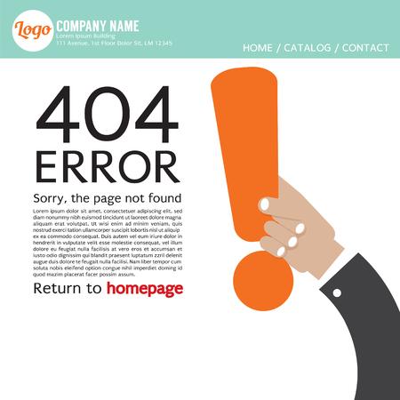 internet mark: Page Not Found Error 404 Vector Illustration Illustration