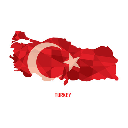 western asia: Map of Republic Of Turkey Vector Illustration