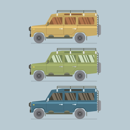 4x4: Three Different Colors Of Vector Illustration Illustration