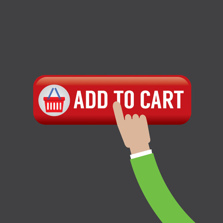 cart button: Add To Cart Button Vector Illustration
