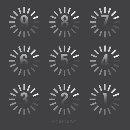 countdown: Loading Of Countdown Number Vector Illustration