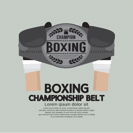 championship: Boxing Championship Belt Vector Illustration
