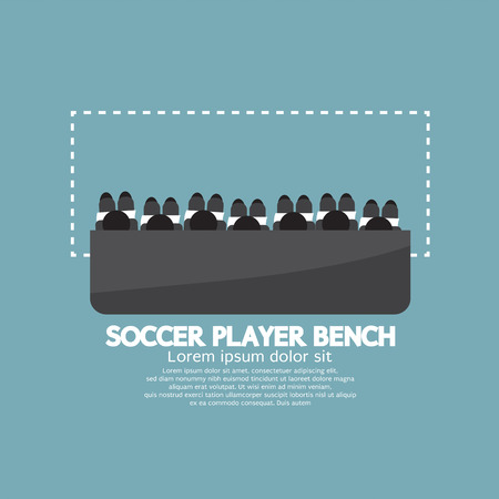 soccer coach: Top View Of Soccer Player Bench Vector Illustration