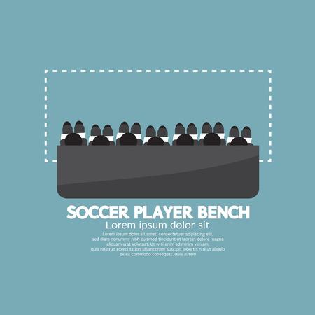 Vista superior de jugador de fútbol Ilustración vectorial Bench