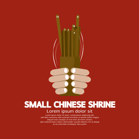 lucky bamboo: Cast Lots Fortune Of Chinese Vector Illustration Illustration